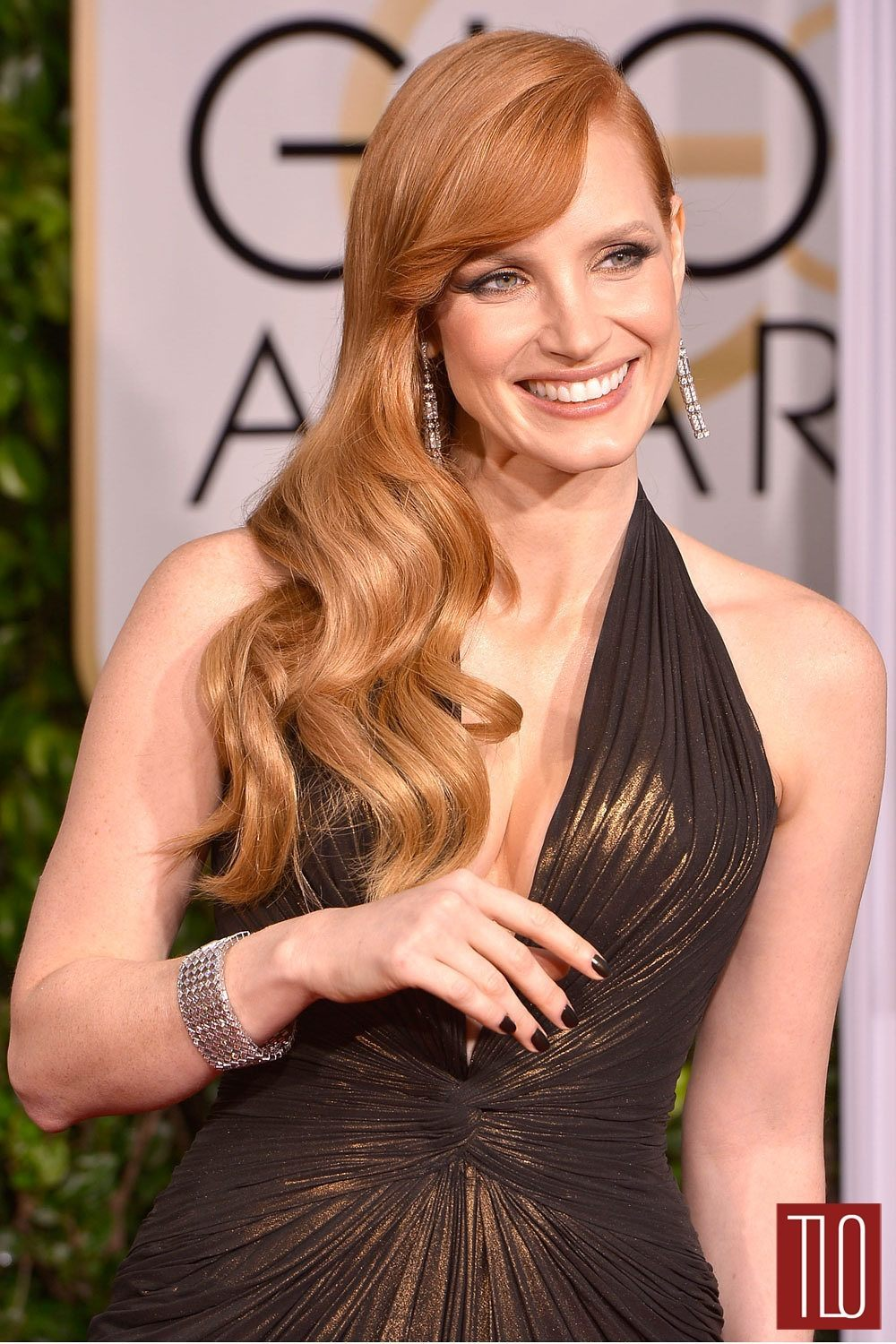 Jessica Chastain Golden Globes  Dress Designer